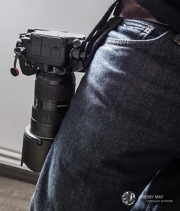 Voilà on est Prêt pour la balade ! Une fois votre appareil photo enclenché dans le Capture Pro, il est impossible qu'il tombe.