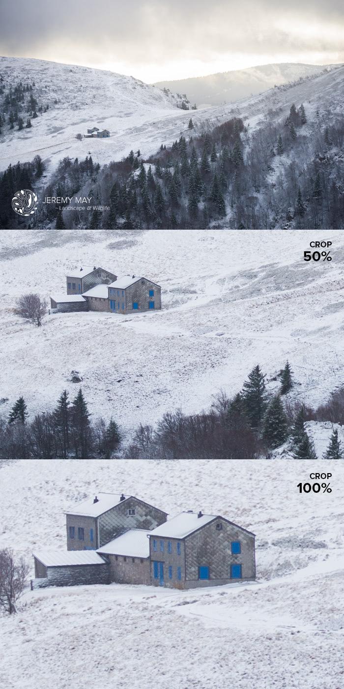 10h30. Les sommets du massif des Vosges et leurs lumières d'hiver  (exif : 150 mm - f/8 - 1/320s - 250 ISO)